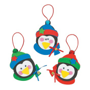 3 ~ Foam Penguin Christmas Ornament Craft Kits ~ New
