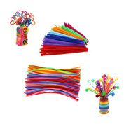 Miraclekoo 360 Pcs Pipe Cleaners Chenille Stem for Arts and Crafts ,6 mm x 12 Inch, Assorted Colours