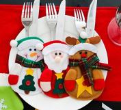 Miss.AJ Christmas Santa Claus Silverware Cutlery Holder Pockets Dinner Decor 6 pcs