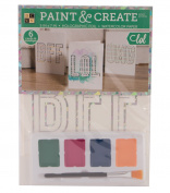 Colouring Greeting Cards Stationery Set Paint and Create All Occasions Box Sets (3) unique designs (6) watercolour cards; (6) envelopes, 4 mixable paints and a brush