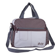 Multifunctional Waterproof Baby Nappy Nappy Bag with Nursery Changing Bag,Coffee