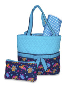 Ever Moda Designer Print Quilted Nappy Bag with Change Pad