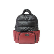 7AM Enfant Brooklyn Bag, Bordeaux/Black