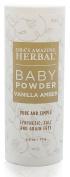 Natural Baby Powder, No Talc, Grain, Gluten, Corn, Vanilla Amber Scent, Ora's Amazing Herbal 70ml