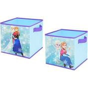 Adorable 2-Pack 10x10 Disney Frozen Storage Cubes Collapsible for Kids Girls
