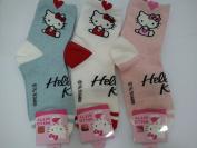 Cat -Hello Kitty - Women's Girls Fashion Socks 3 pcs, Sticker