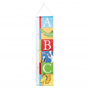 Trend Lab Dr. Seuss Alphabet Canvas Growth Chart, Blue/Green/Red/White