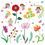 Fairy Garden Decorative Peel & Stick Wall Art Sticker Decals for Kids Room and Nursery