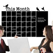 Monthly chalkboard Chalk Board Blackboard Wall Sticker Calendar Memo DIY