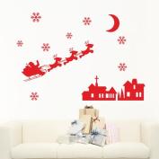 SMTSMT Snowman Snowflake Decoration Decal Window Stickers