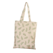 Caixia Women's Olive Leaf Canvas Tote Shopping Bag Beige