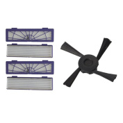 Beudvo 4PC Filter + 1PC Side Brushes Replacement for Neato Botvac 70e 75 80 85