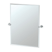 Gatco 4639S Glam Rectangle Mirror, Chrome