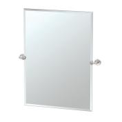 Gatco 4649S Glam Rectangle Mirror, Satin Nickel