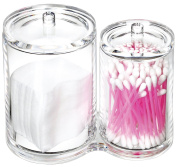 Bloss 100% Acrylic Cotton Ball and Swab Holder / Clear Cotton Ball and Swab Organiser