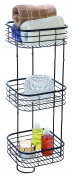 BathSense SPA1001ORB Three-Tier Spa Tower Bathroom Product Storage & Organisation Unit, Oil Rubbed Bronze
