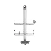 Modern Style Stainless Steel/Anodized Aluminium Adjustable Shower Caddy, Grey