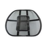 PrimeTrendz Car Office Seat Chair Massage Back Lumbar Support Mesh Ventilate Cushion Pad