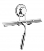 Gecko-Loc Stainless Steel Metal Shower Squeegee with Super Suction Cup