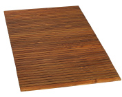 Bare Decor 0.9m by 1.5m Oskar String Spa Shower Mat/Rug, X-Large, Solid Teak Wood Oiled Finish