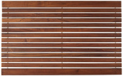 Bare Decor Cosi String Spa Shower Mat in Solid Teak Wood Oiled Finish, 80cm by 50cm
