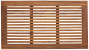 Bare Decor Dasha Spa Shower or Door Mat, 80cm by 45cm , Solid Teak Wood and Oiled Finish