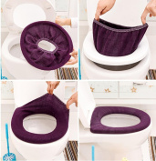 LEERYA Bathroom Toilet Seat Closestool Washable Soft Warmer Mat Cover Pad Cushion