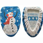 Christmas Toilet Cover, Yoyorule Snowman Toilet Set Single Lid Printed Toilet Cover Christmas Decorations Toilet