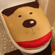 AMA(TM) Christmas Snowman Elk Santa Claus Toilet Lid Seat Cover Bathroom Christmas Decoration Perfect Christmas Gifts