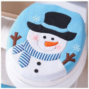 Christmas Toilet Seat Cover,Elaco Christmas Decoration Christmas Snowman Lid Single Toilet Cover