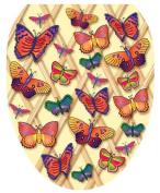 Toilet Tattoos TT-1700-O Butterflies-a-Flutter Design, Elongated by Toilet Tattoos