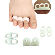 Gel Toe Separators Bunion Pads Toe Stretchers, Alignment, Straightener,Bunion Relief Spacer, Overlapping Spreader Corrector