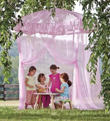 Sparkling Lights Lighted Canopy Bower, in Pink