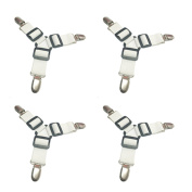 Toweter Thick 4 Pieces A Set ,3-Way Bed Sheet Fasteners Grippers Suspenders,Sheet Mattress Corner Straps