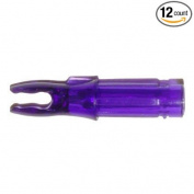 Carbon Express (Bohning) Blazer Double Lock Nocks Carbon Arrows Purple 12/Pkg