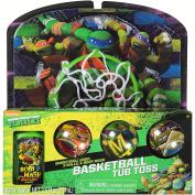 """Teenage Mutant Ninja Turtles TMNT Bathtub Basketball """"Tub Toss"""" Gift Set"""