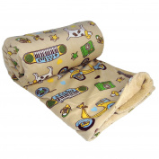 BOON Printed Micro Plush Throw For the Bundle of Joy, 130cm x 150cm , Sounds