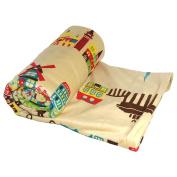 BOON Printed Micro Plush Throw For the Bundle of Joy, 130cm x 150cm , Around the World