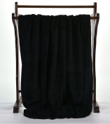 Soft Fleece Polyester Throw Blanket by Berkshire, Black