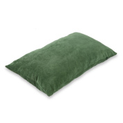 baibu Corduroy Decor Throw Pillow Cover (19 Colours and Available) Solid Pillow Case for Sofa Dark Green 12x20