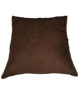 Pillowtex Suede Decorative Pillow 70cm x 70cm Dark Brown