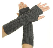 Women Lady Girl Crochet Long Fingerless Gloves with Thumb Hole Arm Fingerless Glove Winter Hand Warmer Great gift