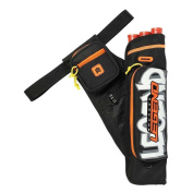 Legend Archery Hip Quiver 3-Tube Multi-Pocket Nylon Hip Arrow Holder Graffiti Archery