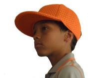 Droc - Mica Orange Mesh Flat Bill Snap Back Hat