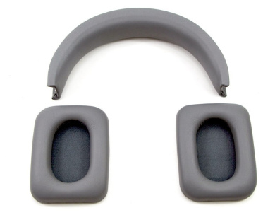 Replacement Ear Pads Cushion and headband Repair Parts For Monster Inspiration Headphones (Grey)
