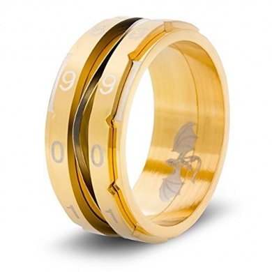 CritSuccess Clicking Life Counter Ring - Gold - Size 13