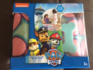 Paw Patrol Hopscotch Game Rug Pink and Blue 70cm X 150cm