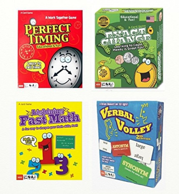 Continuum Educational Games Bundle - Exact Change, Perfect Timing, Lightning Fast Math, Verbal Volley
