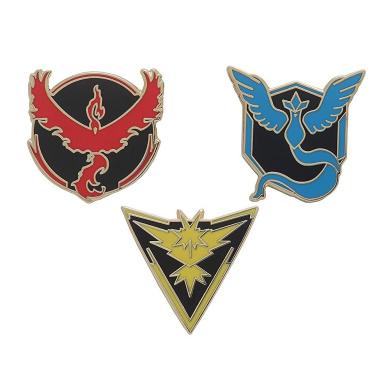 Pokemon Go Badges (Team Mystic, Team Instinct, Team Valour) Gold Outline