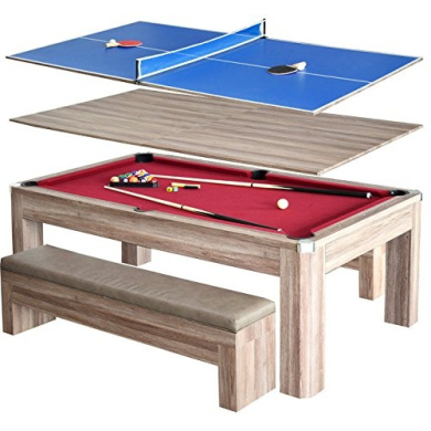Hathaway Newport 2.1m Pool Table Combo Set with Benches